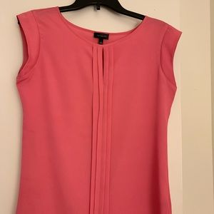 Pink cap sleeve shell blouse